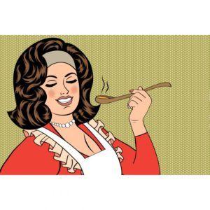 Los mitos de la buena madre- mujer cocinando