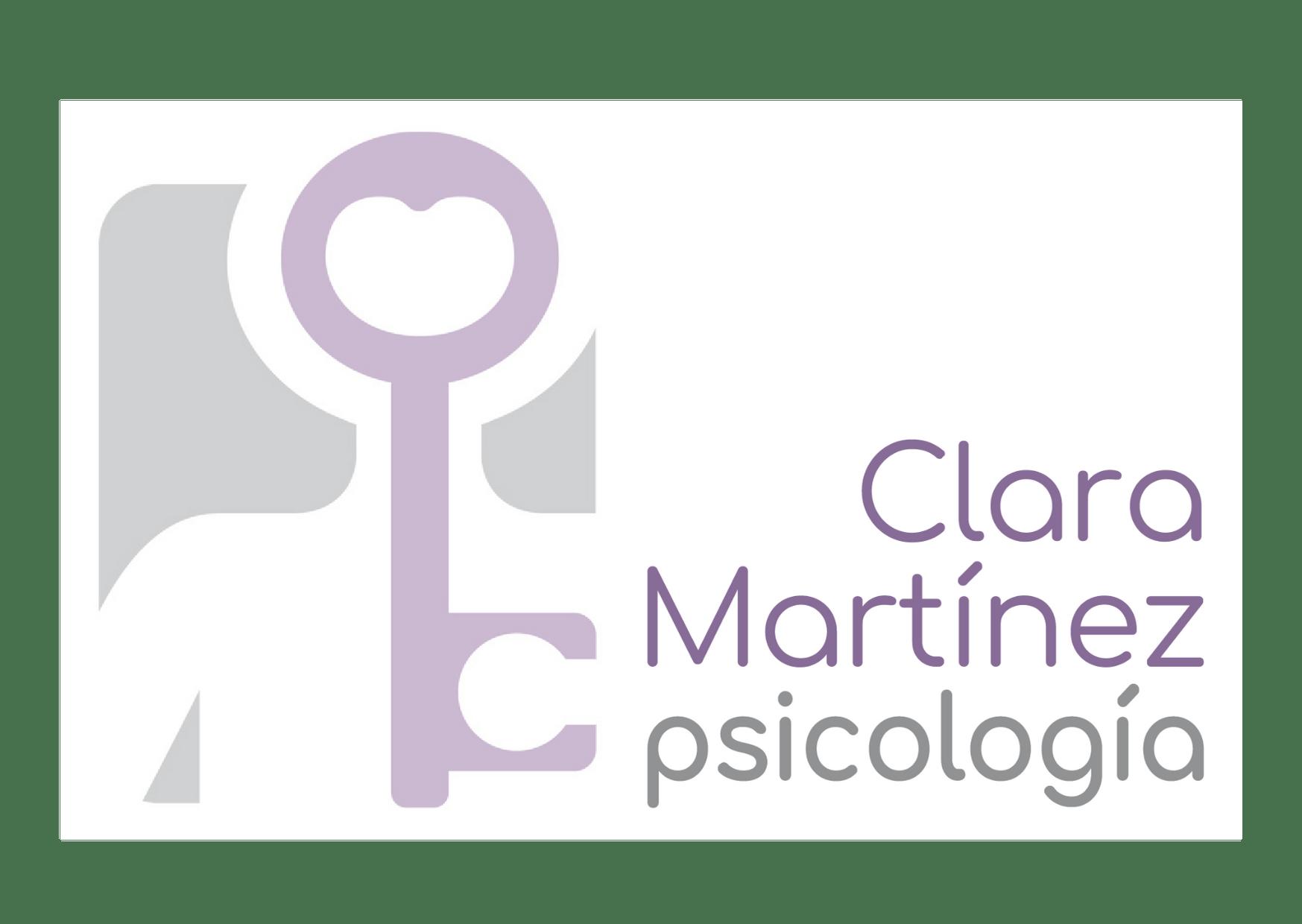 Logo de la psicóloga Clara Martínez: silueta-llave que une mente y corazón