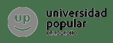 Logo Universidad popular de Logroño